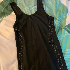 Topshop black cotton dress